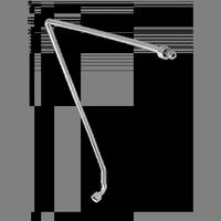 Газопровод горелки духовки-1200.26.0.000-01